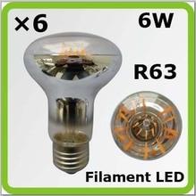 PRODEM 120 V 220 V 230 V 240 V V 6 W R63 LED spot lumineux Bombilla LED luminaria A60 650lm E27 = 60 W ampoules à incandescence