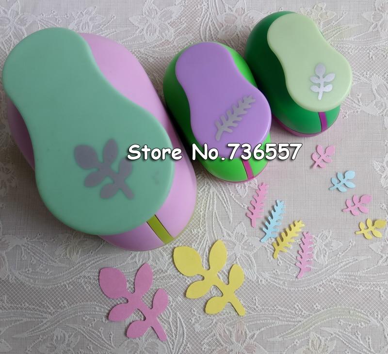 2 inch ( 4.8cm) 1inch (2.5cm) 5/8inch (1.6cm) leaf design of craft punch eva foam maker paper punches for scrapbooking