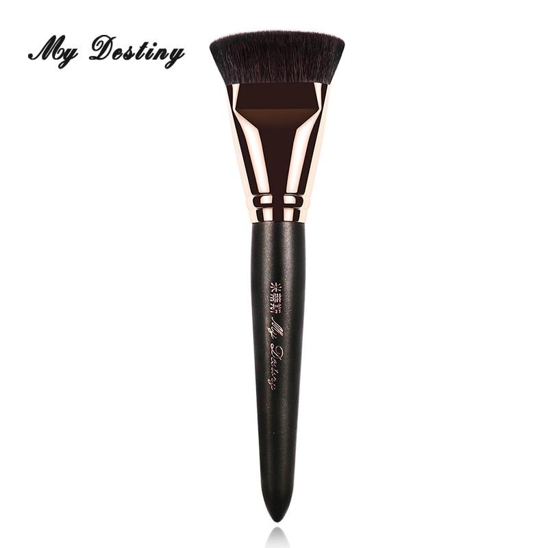 Mydeliance Кисть для макияжа-профессиональная плоская основа для основы и бронзовая кисть-высокое качество, инструменты для косметики из шерсти козы, инструменты для макияжа S024