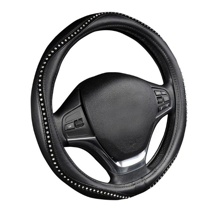 Cobertura de volante, cristal cravejado strass bling estilo para dodge caliber caravan journey nitro ram 1500