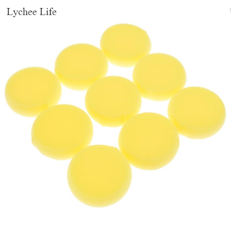 Lychee Life 12 unids/lote de espuma de cerámica, esponja de Esponja absorbente de Agua para lanzar escultura, herramientas de cerámica pequeñas