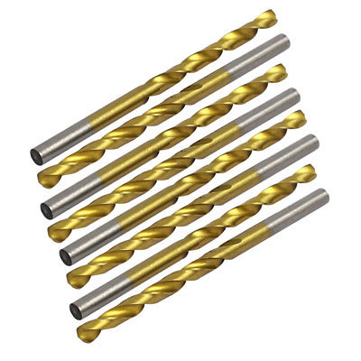 10 Uds. Broca de taladro torcida de 4,4mm de diámetro Chapado en titanio