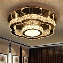 IWHD K9 cristal tricolore gradation Plafon LED plafonniers modernes plafonniers pour salon Luminarias Para Teto