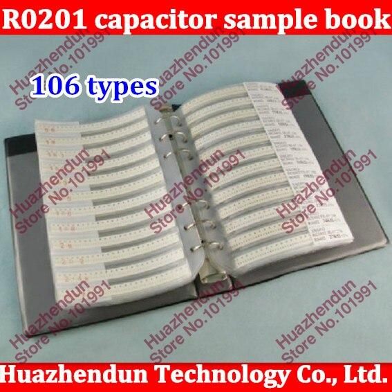Nuevo Original R0201 serie 0201 SUPEROHM resistencia SMD 106 tipos 3025 piezas 5% componentes electrónicos de tolerancia libro de muestras