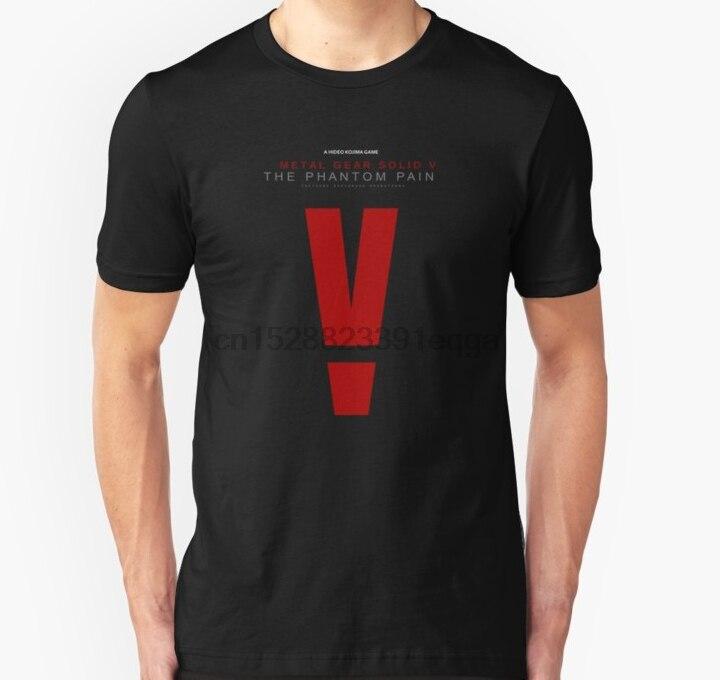 Camiseta de manga corta para hombre, camiseta Unisex con logo del Phantom Pain, engranaje de Metal, camiseta para mujer