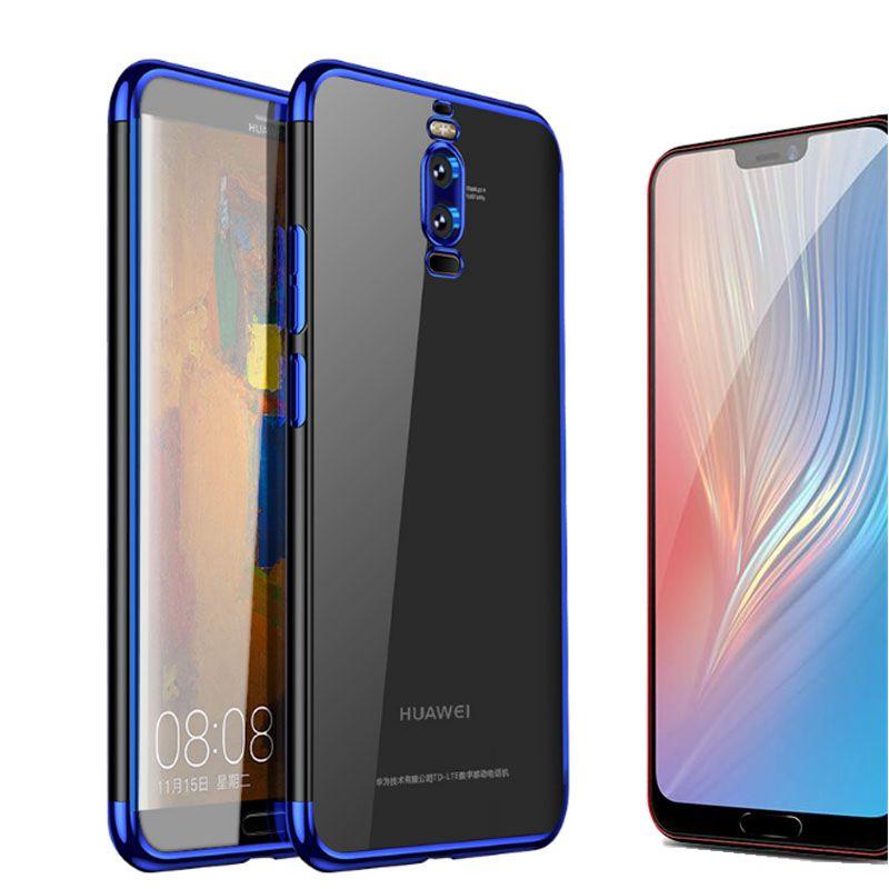SUREHIN funda de silicona para Huawei mate 20 10 Lite Pro P20 10 lite Plus tpu estuche de silicona transparente cubierta de carcasa de tpu