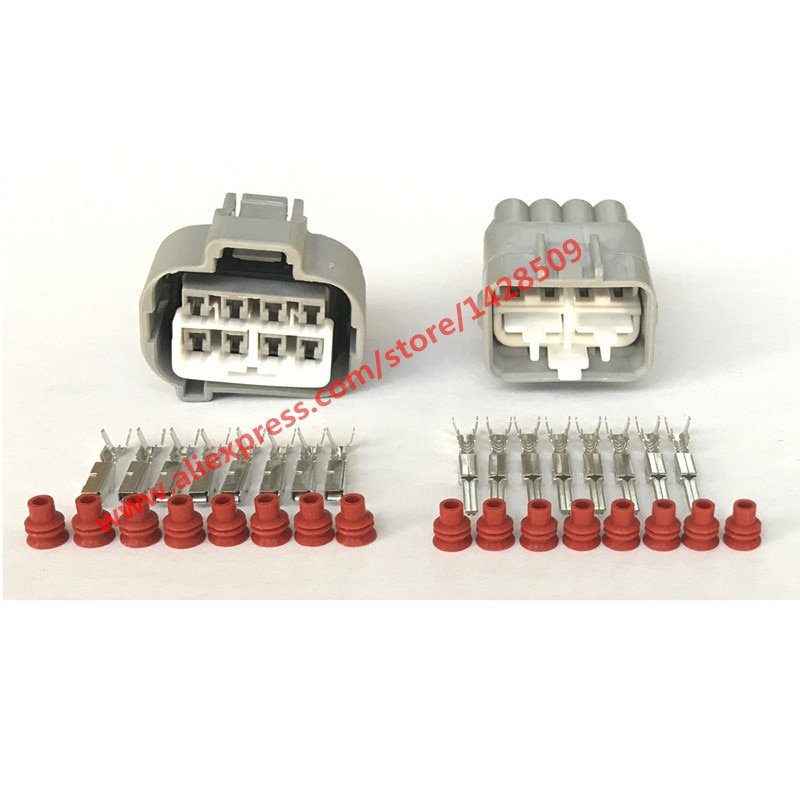 20 Sets 90980-10897, 90980-10896 impermeable automotriz conector hembra macho para Toyota Supra MK4 chasis caja de fusibles