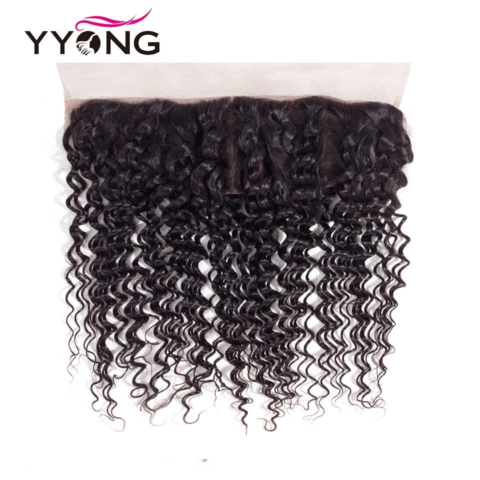 Yyong-شعر مستعار برازيلي مموج طبيعي ، شعر ريمي ، 13 × 4 ، إغلاق أمامي من الأذن إلى الأذن ، دانتيل سويسري ، ثلاثة أجزاء ، يمكن بيضاته