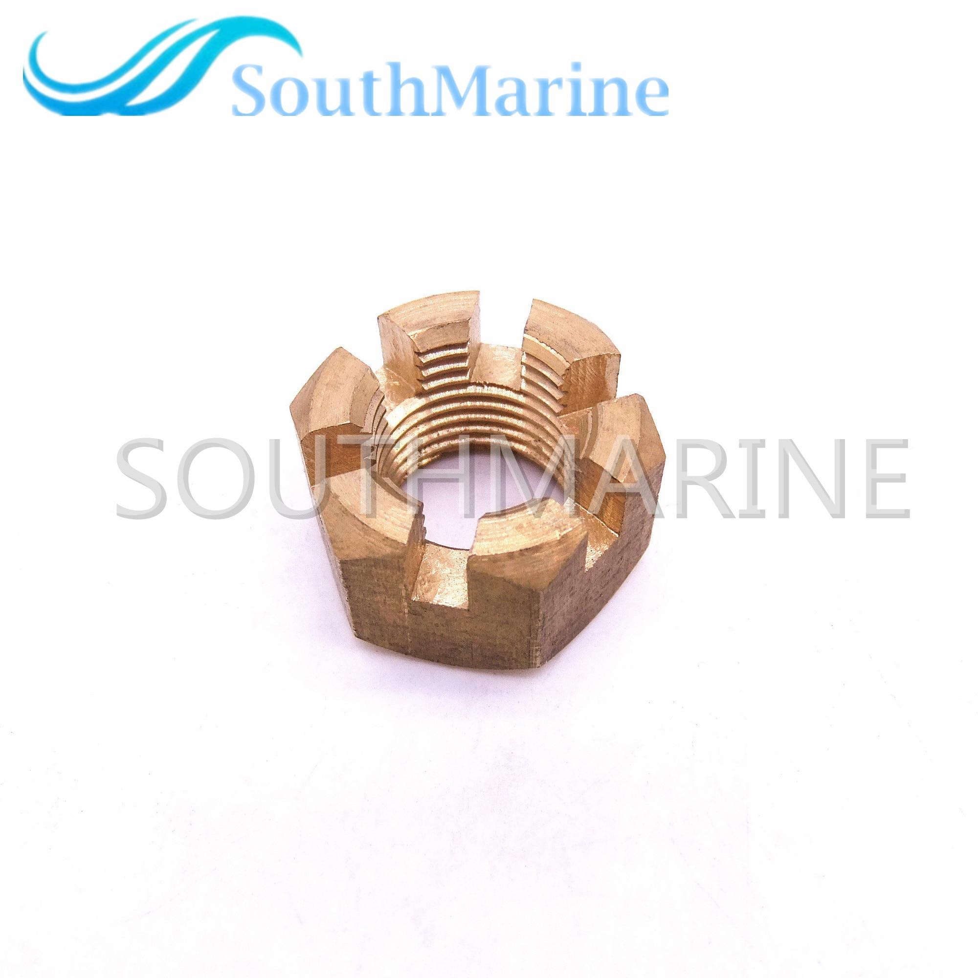 Peças de Motores Marítimos de popa 90171-16011 Porca, Castelo de hélice para Yamaha 40HP 50HP 90HP 55HP 60HP 70HP, frete Grátis