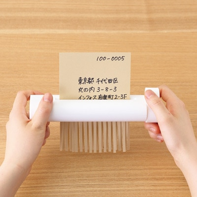 White Compact Office Manual Shredder Mini Manual Shredding Paper