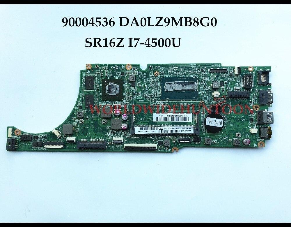 Alta calidad DA0LZ9MB8G0 para Lenovo Ideapad U530 U530P placa base para portátil 90004536 SR16Z I7-4500U DDR3L 2 GB 100% probado completamente