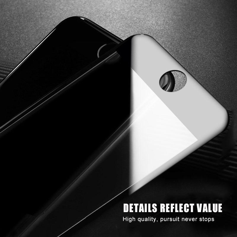 NUEVA cubierta completa de vidrio templado 9D para iPhone X 7 6 s Plus XS Max Protector de pantalla para iPhone XR película de cubierta completa de vidrio X 8