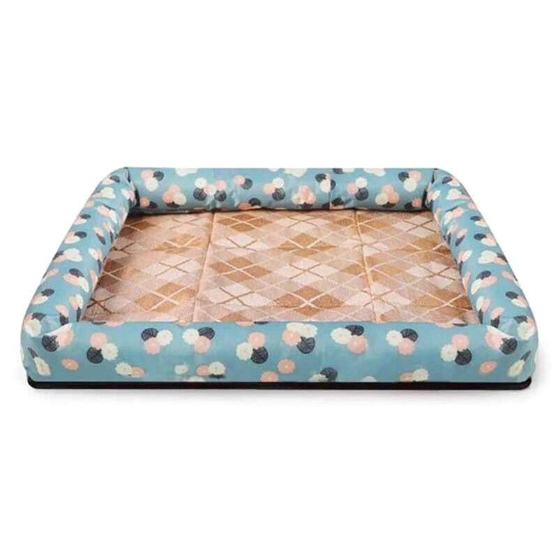 Esterilla de tela Oxford de verano de seda fría, transpirable, perrera impermeable, cama de perro divertido, Gato de verano para dormir, sofá
