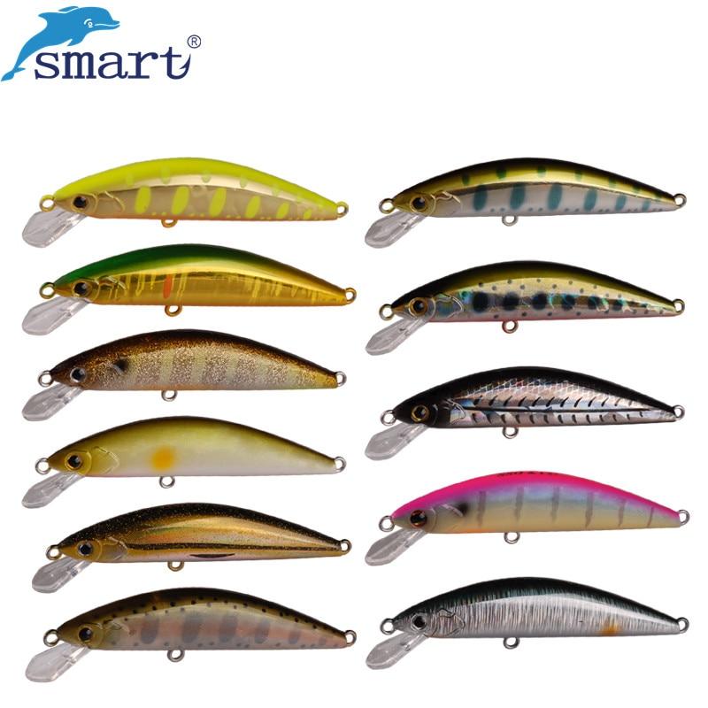 Блесна, умная рыболовная приманка 6,5 см, 5 г, 3D глаза, погружная приманка, искусственная жесткая приманка с крючком VMC, рыболовные воблеры