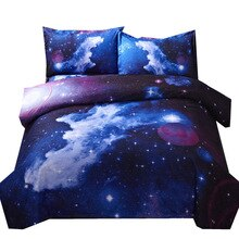 Housse de couette 3d Galaxy   Ensemble double simple/reine, sur thème de lespace extérieur de lunivers, 2 pièces/3 pièces