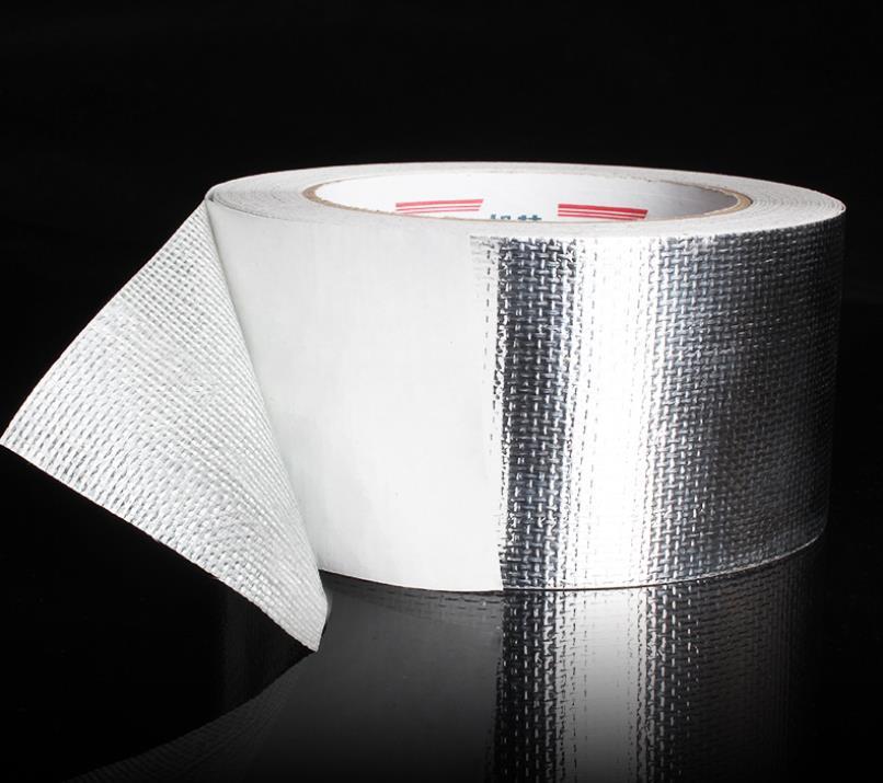 رقائق الألومنيوم عالية الجودة 25 م شريط درع الحرارة المقوى ، ورق ألومنيوم ذاتي اللصق مقاوم للحريق ، بالجملة