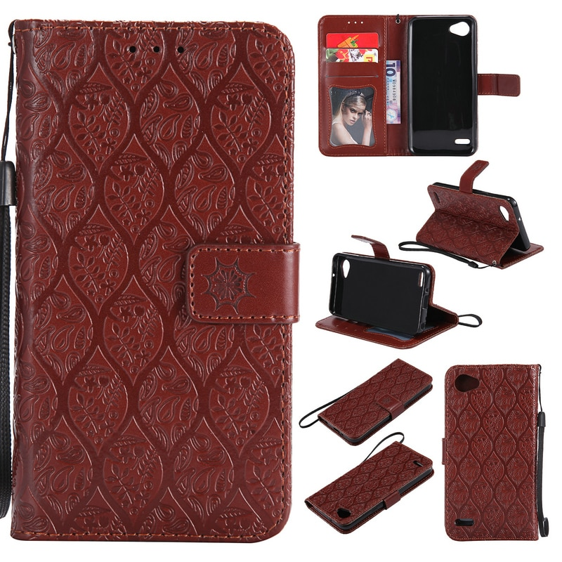 Luxury Wallet Case for LG Q6 Case Coque LG G6 Mini Flip Case Card Slot Phone Holder for LG Q6 G6 Mini Cover 360 Full Protective