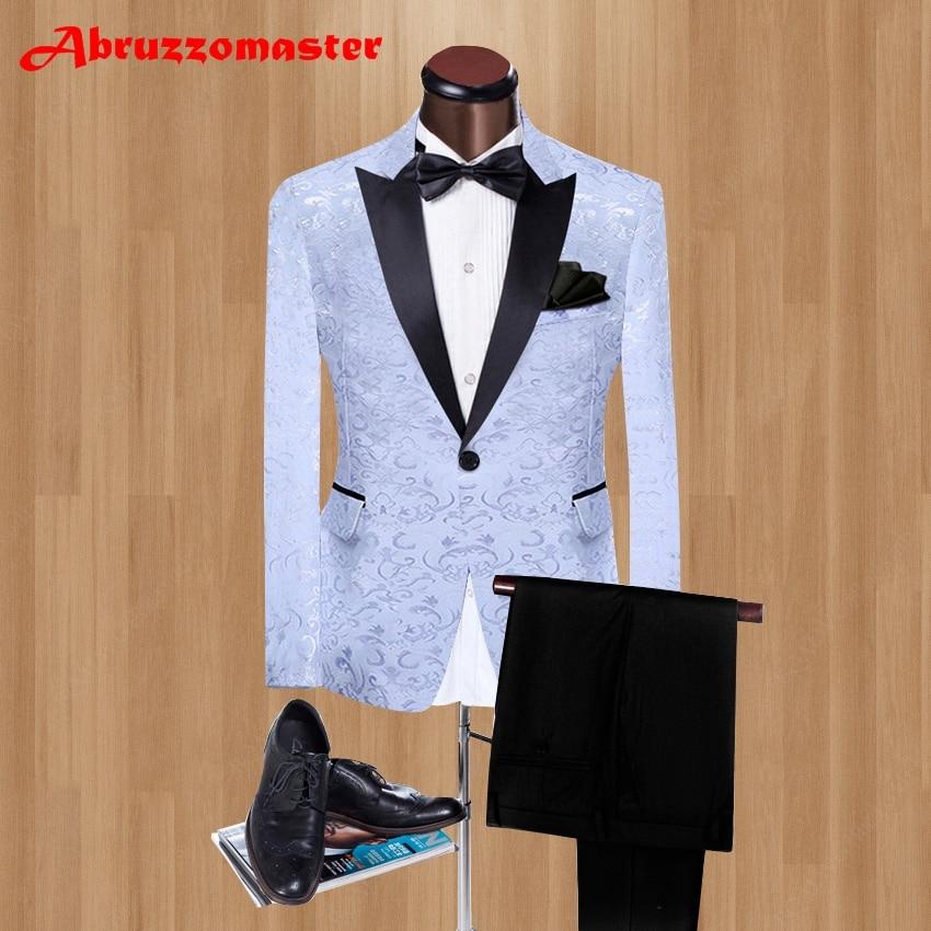 2021 Pesked التلبيب العريس البدلات الرسمية الجاكار نسج وصيف دعوى مخصص رجل دعوى الأحمر/الأبيض الرجال الحلل و السراويل السوداء 2