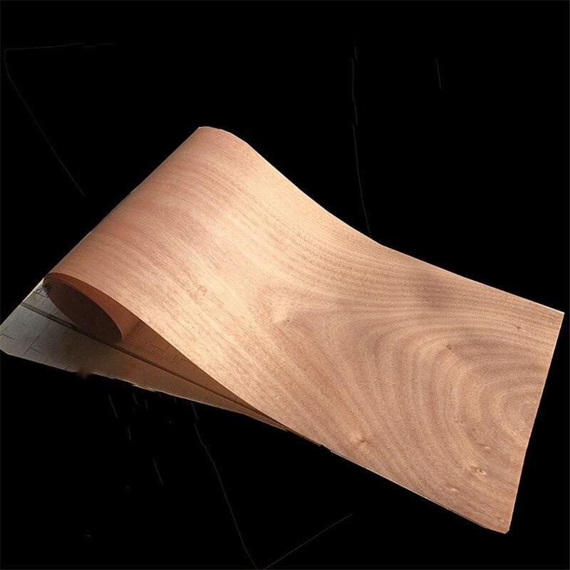 Chapa de madera genuina Natural en rodajas de nogal chapado para muebles Rift aserrado Rift grano cuarto aserrado C/C 0,2mm de espesor