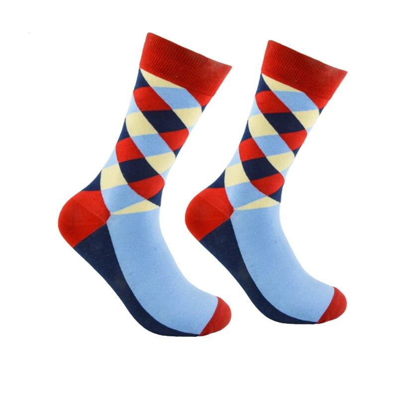 Medias de estilo británico Rockbottom para hombre, tallas 41-47, Calcetines a cuadros de Color degradado, marca Elite, Calcetines largos de algodón para hombres felices