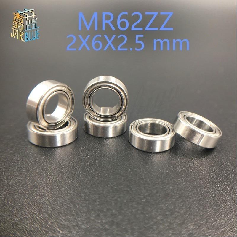 Frete grátis 10 pcs mr62 MR62ZZ ABEC-5 2X6X2.5mm Rolamentos de Esferas de Parede Fina sulco Profundo Mini rolamento de esferas Em Miniatura Rolamento