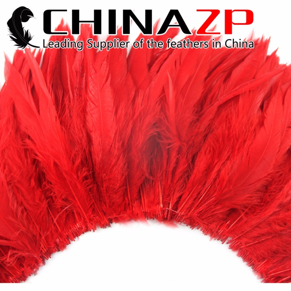 CHINAZP Fábrica Boa Qualidade Branqueada e Tingida Rooster Strung Schlappen Penas 12 Cores Disponíveis