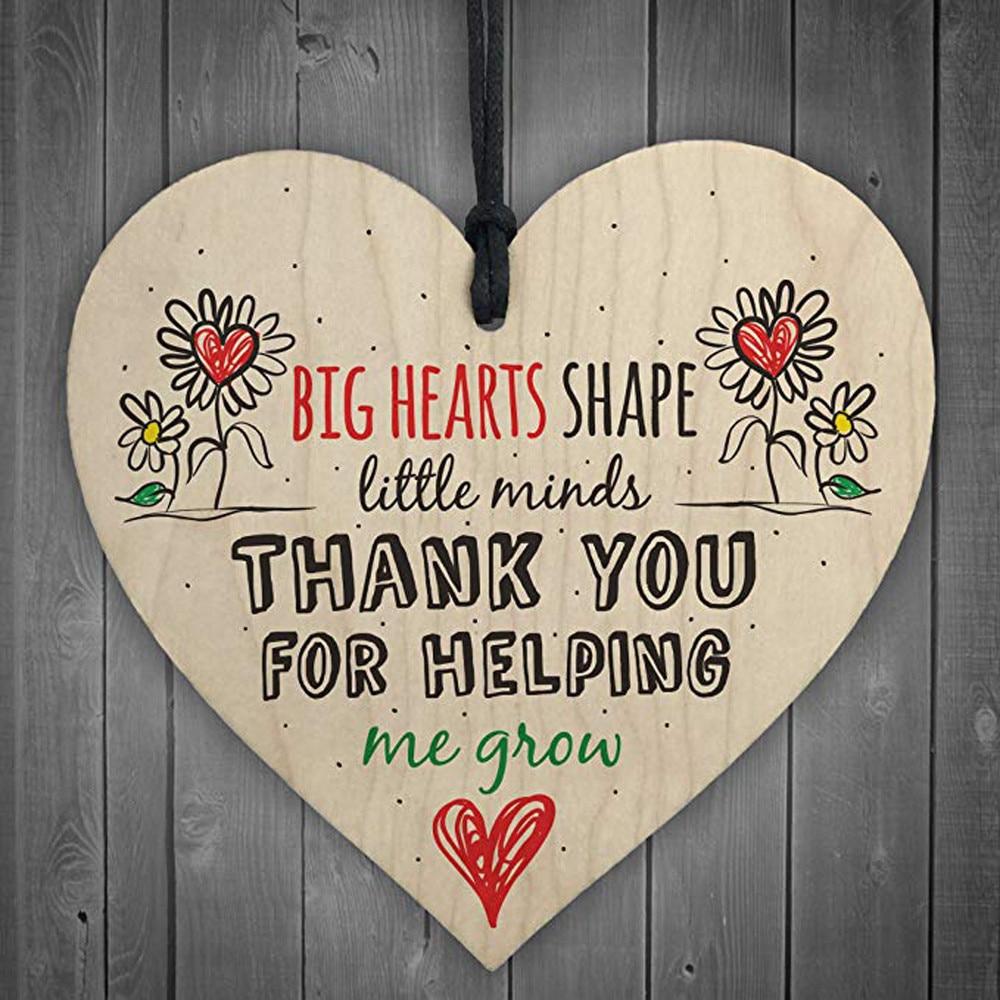 Colgante de madera con forma de corazón para decoración de hogar, adorno...