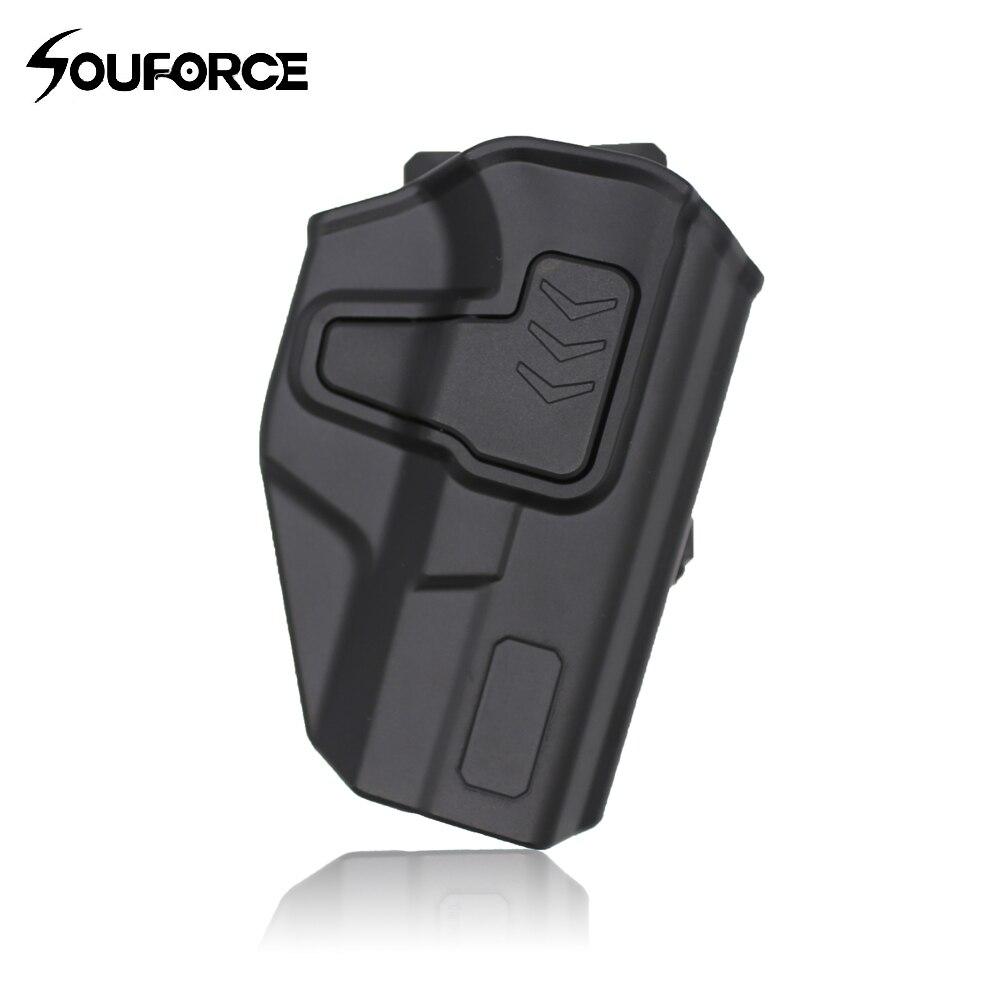 360 Degree Rotoble Paddle Polymer Holster for Glock 19 Pistols