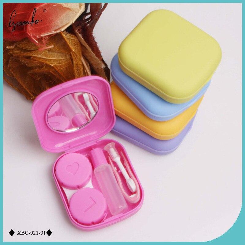 Lymouko милый карманный мини-чехол для контактных линз, дорожный набор, легко переносить зеркальные линзы, контейнер