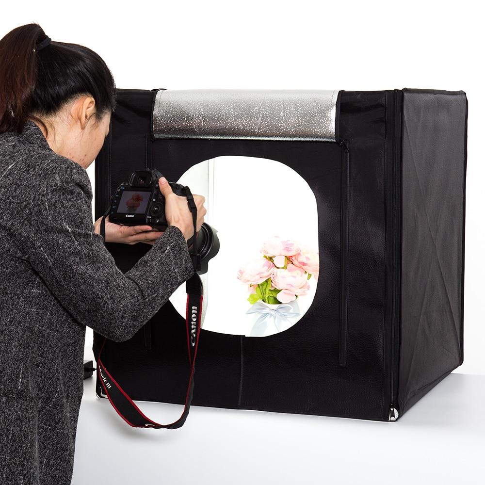 Free shipping 40cm*40cm Studio soft box LED Shooting Light Tent photo light box lichtbak photo tent set+portable bag +2 Backdrop