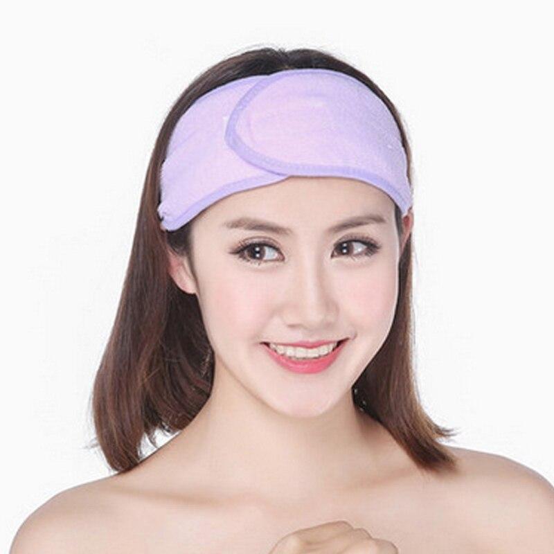 Nuevo lavarse la cara maquillaje SPA mujeres sudor elástico venda del pelo suave MH88