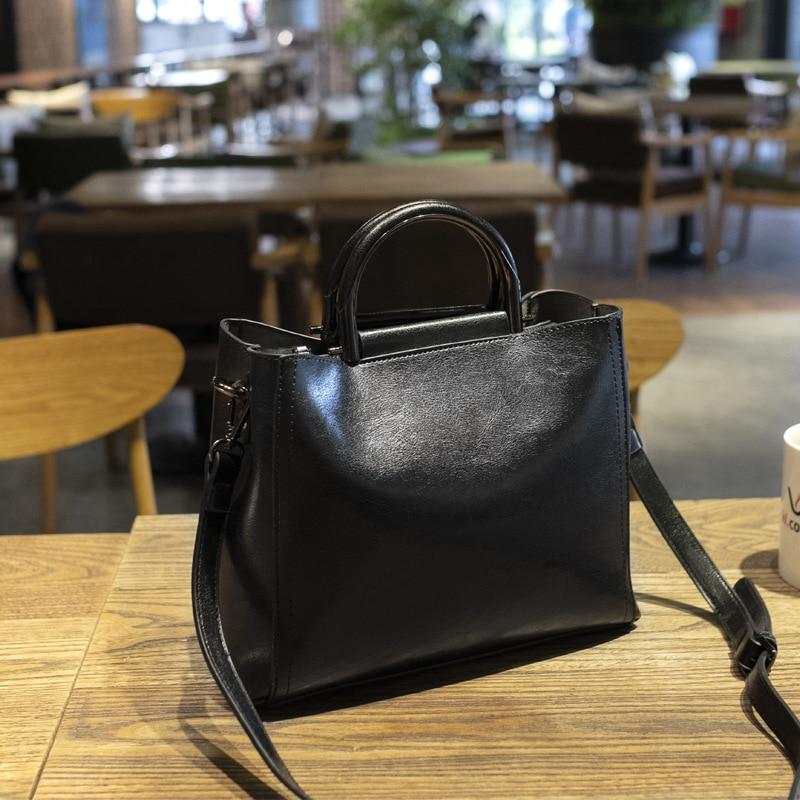Bolsos de mano Vintage para mujer 2020, Bolso de piel para mujer, bolsas grandes de alta calidad con asa superior, bolso de mano Casual, bolso de mano para mujer principal C994