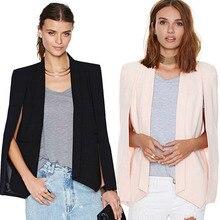 Poncho Blazers veste de bureau vêtements, revers à revers pour dames Blazer manteau de costume blazer mujer 2018 feminino