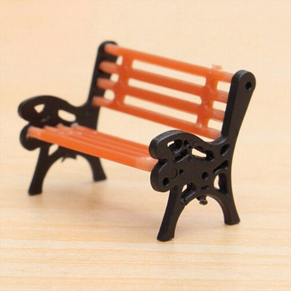 1 Uds Mini jardín lindo ornamento miniatura asiento de parque Banco artesanía casa de muñecas Hada decoración de alta calidad