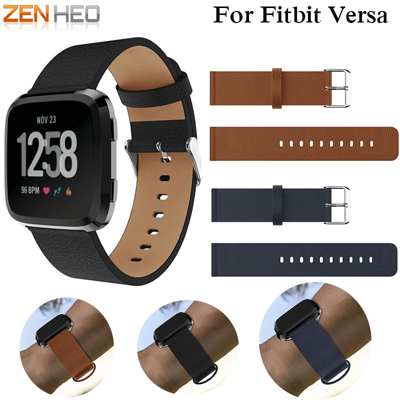 Replacement Watch band Leather wrist Watchband Strap Bracelet Belt for fitbit versa Smart Watch wristband 2018 New Arrival new fashion watchband replacement metal alloy watch strap for fitbit blaze smart watch band with case luxury bracelet wristband