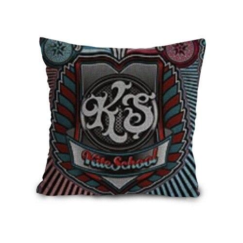 Comercio al por mayor 45 cm * 45 cm Kite Escuela Signo Almohadilla de Tiro Cubierta de la Impresión Del Arte Moderno Sofá Fundas de Cojín Cuadrado Rojo KS Fundas de Almohada