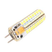 50 sztuk 6W GY6.35 G5.3 G4 silikonowa żarówka LED Crystal 72 sztuk 2835 LED SMD, 50W żarówka halogenowa odpowiednik, oświetlenie kukurydza led AC/DC 12V