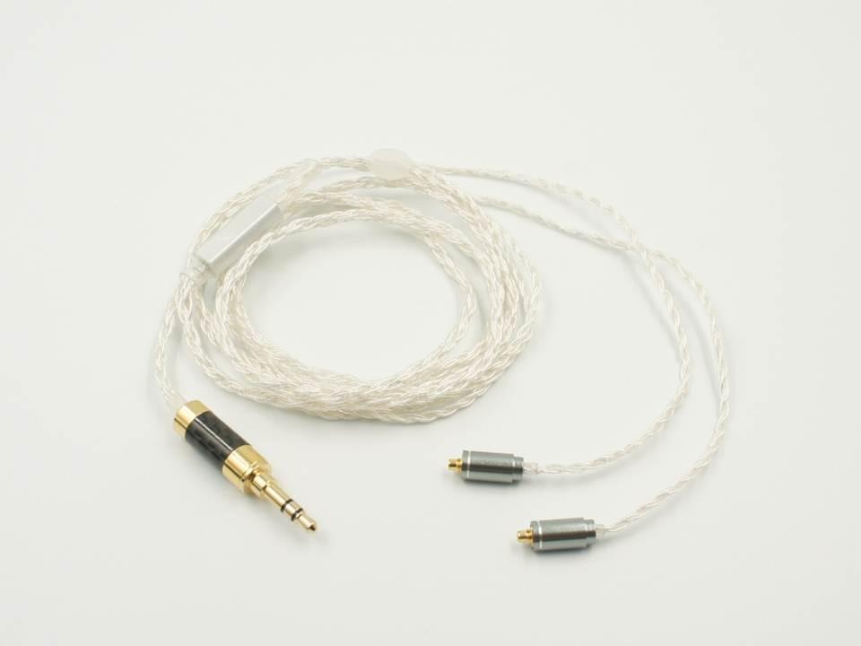 OURART Ti7 5N одиночный Кристальный медный посеребренный MMCX кабель для наушников для Shure SE215 SE315 SE425 Ti7