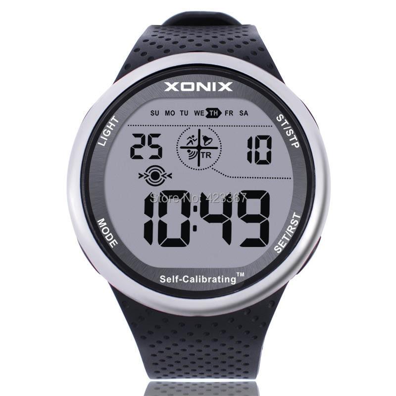 ساعات رياضية رقمية للرجال ، ساعة يد مقاومة للماء ، متعددة الوظائف ، للسباحة والغواص في الهواء الطلق ، معايرة ذاتية ، 100 متر