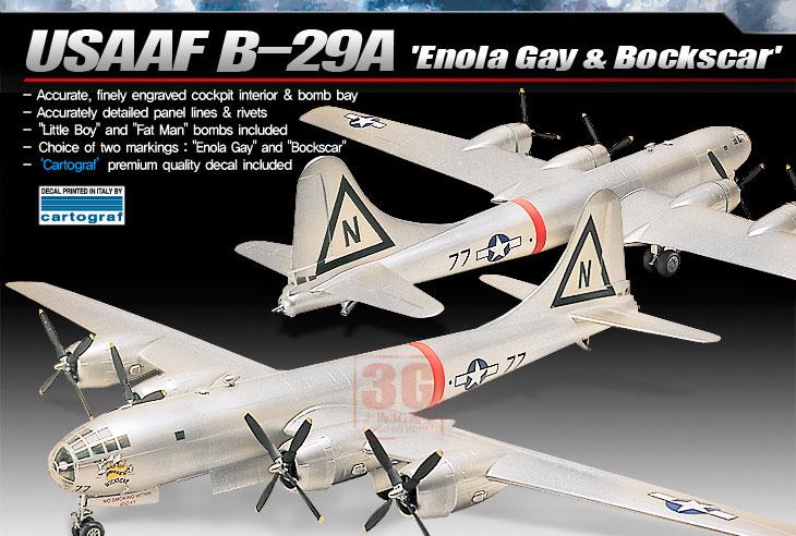 1/72 B-29A Super Air Fortress Bomber Assembles Aircraft 12528