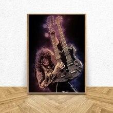 Jimmy Seite Musik Star Art Leinwand Poster Malerei Wohnzimmer Wohnkultur
