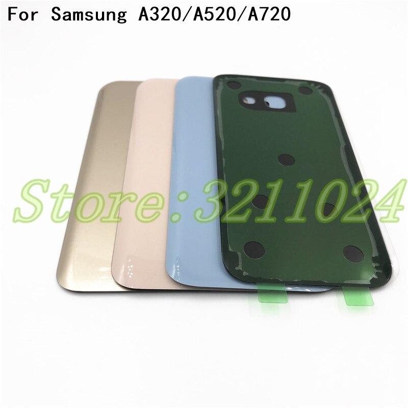 Cubierta de cristal Original de la batería para Samsung Galaxy A3 A5 A7 2017 de reemplazo A320 A520 A720 puerta trasera con logotipo