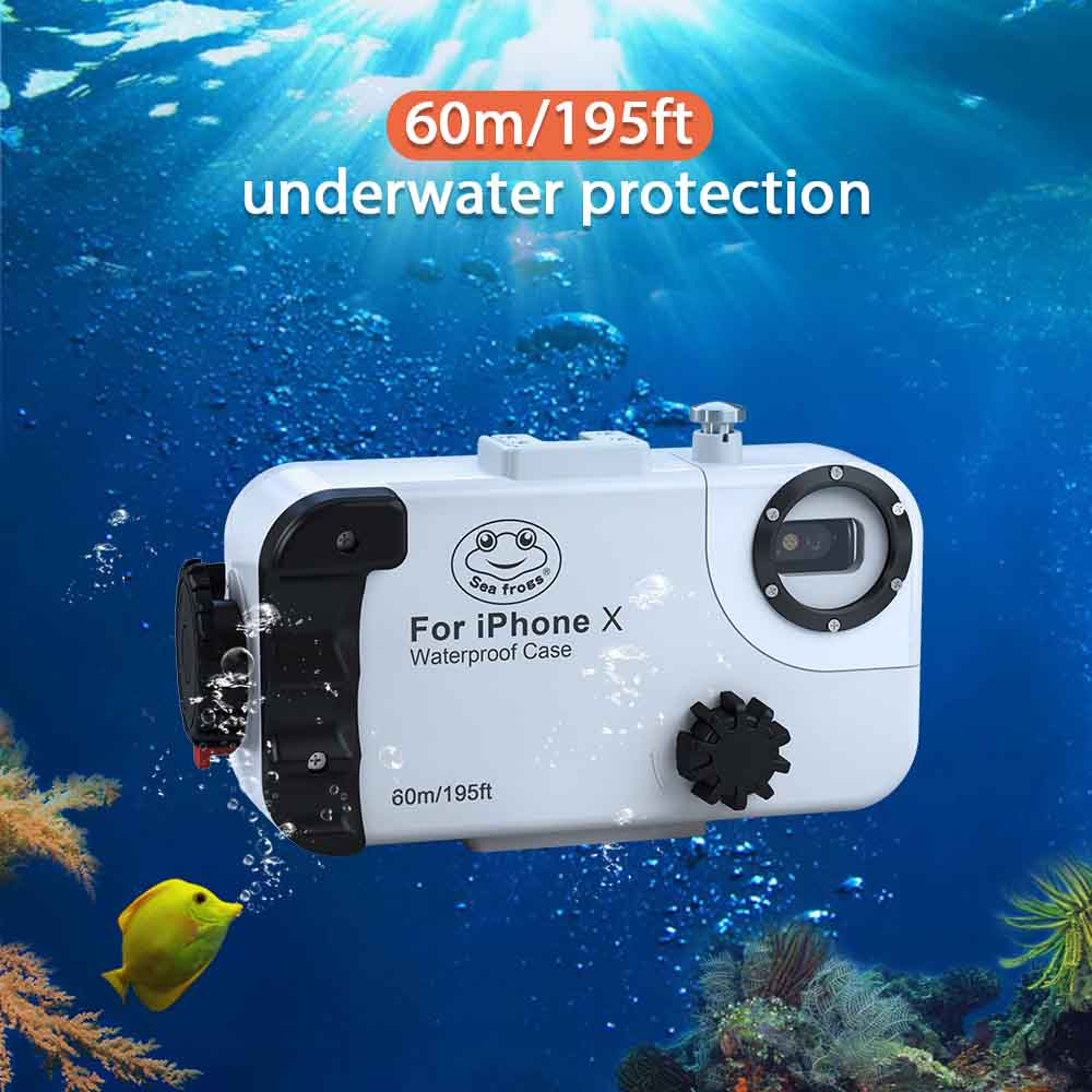 195FT/60M For iPhone X/XS Diving Case Cover Professional Surfing Swimming Snorkeling Photo Video Waterproof Underwater Case enlarge