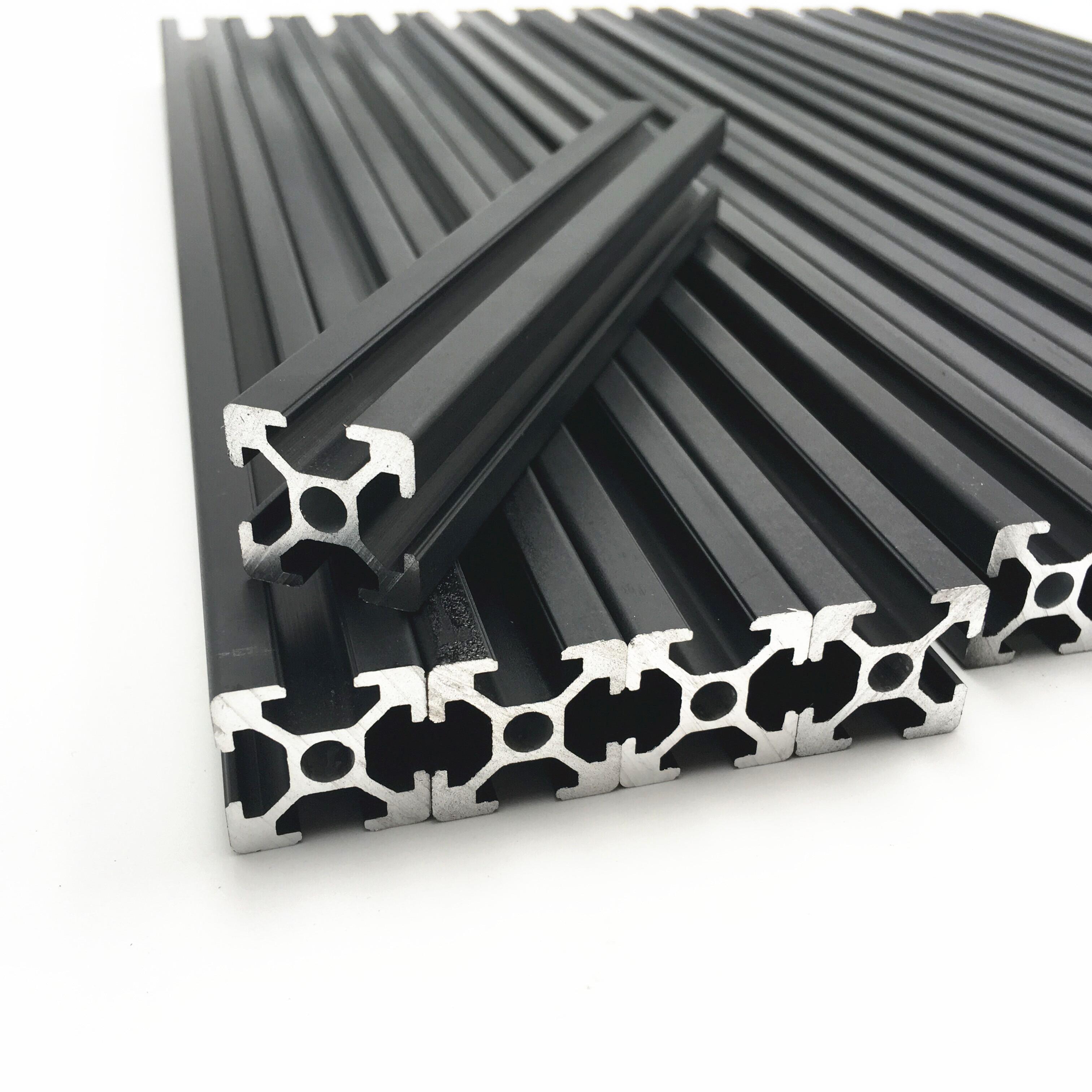 1Set Hypercube 3D Printer  Metal Frame Extrusion & Hardware Kit For DIY HyperCube 3D Printer  X200 x Y200 x Z155 print bed area