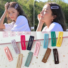 Color Square Candy Hair Clips Alloy Girl Hairpin Summer Cartoon Hairclips BB Clip Fashion Solid color Hair Accessories