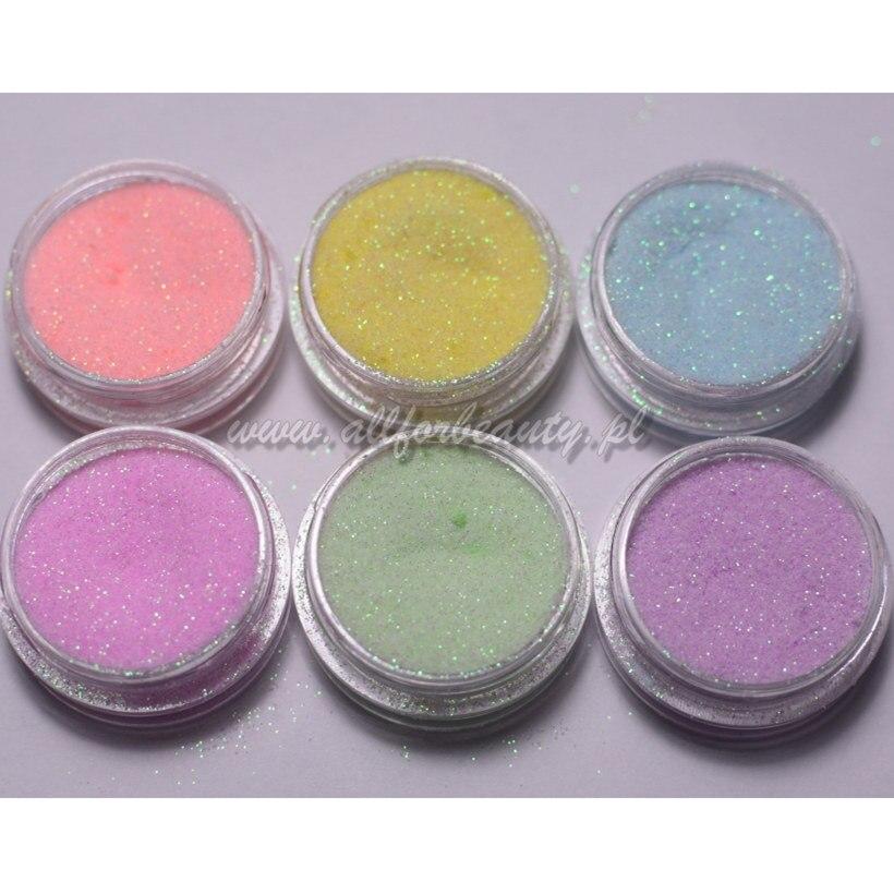 1pc Meerjungfrau Nagel Glitters Candy Farbe Zucker Sternenlicht Wirkung Glitter Pulver Staub Ultra-feine Glitter Maniküre Nail art dekoration