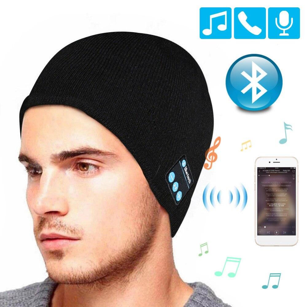 Беспроводные Bluetooth наушники, Спортивная Музыкальная шляпа, умная гарнитура, Шапка-бини, зимняя шапка с динамиком для Xiaomi, наушники для Meizu