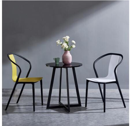 كرسي بلاستيكي بيتل ، ظهر واحد ، حديث ، تصميم إبداعي ، غير رسمي ، عصري ، للمنزل