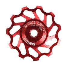 11 الأسنان متب السيراميك تحمل عجلة شدادة بكرة الطريق دراجة دراجة Derailleur Hot
