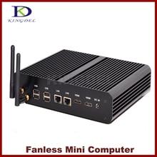 Kingdel Intel Haswell 4th Gen CPU Core i7-4500U Mini ordinateur de bureau sans ventilateur avec 8 go de RAM + 1 to de disque dur, 4 * USB3.0, 2 * HDMI, 2 * LAN